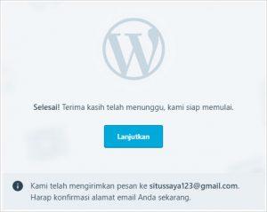 cara membuat blog gratis wordpress - langkah 7