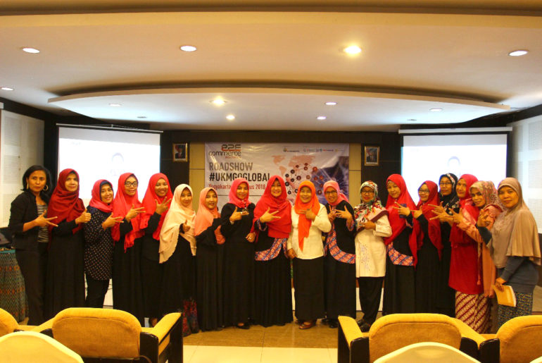 Himpunan Pengusaha Muslimah Yogyakarta saat Roadshow #UKMGoGlobal di UGM Club (8/8).
