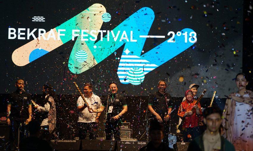Bekraf Sukses Hadirkan 45 Ekonomi Kreatif di Gelaran Bekfest Surabaya