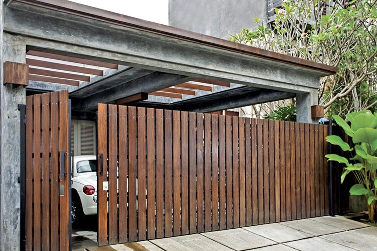 Koleksi Desain Pagar Kayu Rumah Minimalis Terbaru